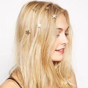 BRAND NEW star spiral gold hair pins